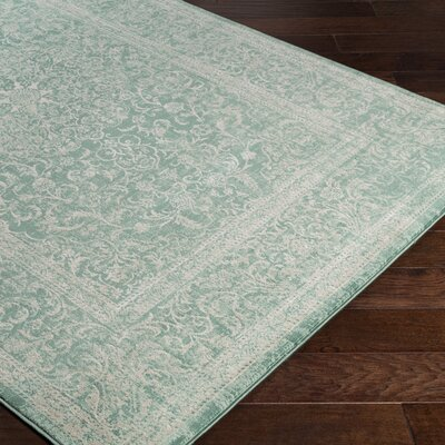 Anil Green/Beige Area Rug Rug Size: Rectangle 52 x 76