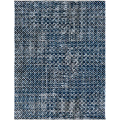 Fredonia Gray/Blue Area Rug Rug Size: Rectangle 53 x 73