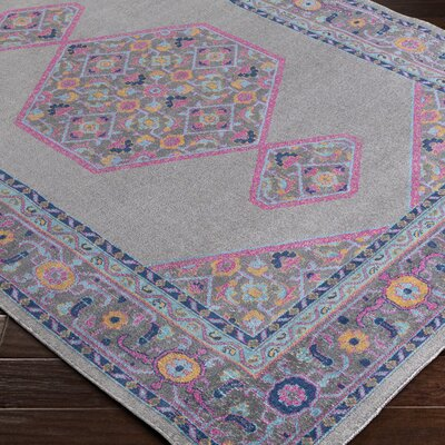 Fredonia Gray/Pink Area Rug Rug Size: Rectangle 53 x 73