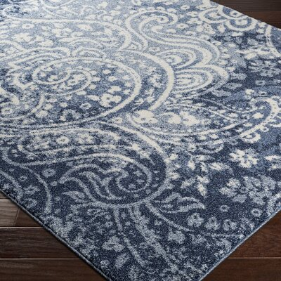 Brookside Blue Area Rug Rug Size: Rectangle 53 x 76