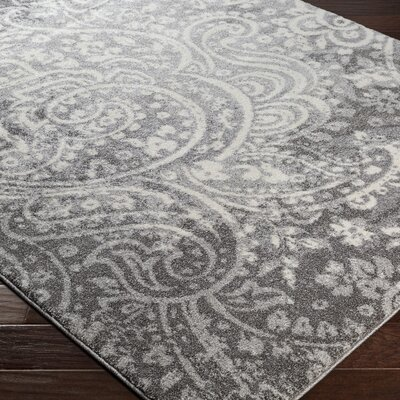 Brookside Gray Area Rug Rug Size: Rectangle 53 x 76