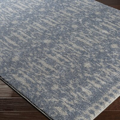 Brookside Blue Area Rug Rug Size: 53 x 76