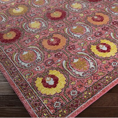 Nichole Oriental Pink Area Rug Rug Size: Rectangle 53 x 73