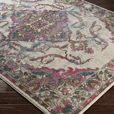 Nicole Pink Area Rug Rug Size: Rectangle 5'3