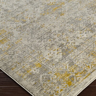 Anil Yellow/Gray Area Rug Rug Size: Rectangle 52 x 76