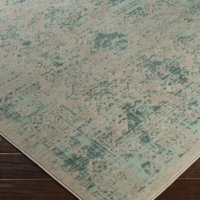 Anil Green / Brown Area Rug Rug Size: 52 x 76