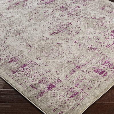 Anil Purple / Gray Area Rug Rug Size: Rectangle 76 x 106