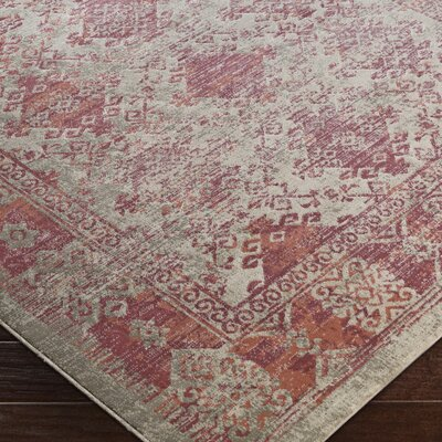 Anil Red Area Rug Rug Size: 76 x 106
