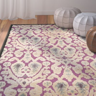 Saint-Michel Purple/Beige Area Rug Rug Size: Rectangle 4 x 57