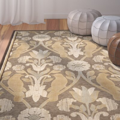 Saint-Michel Brown Rug Rug Size: Rectangle 53 x 76
