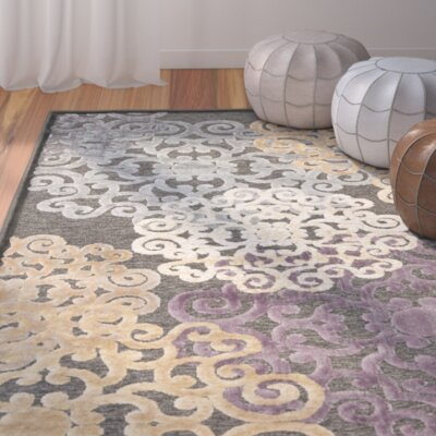 Saint-Michel Charcoal Wilton Rug Rug Size: Rectangle 33 x 57