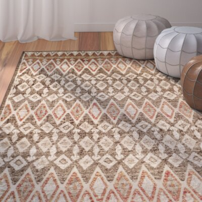 Saint-Michel Tan Area Rug Rug Size: 53 x 76
