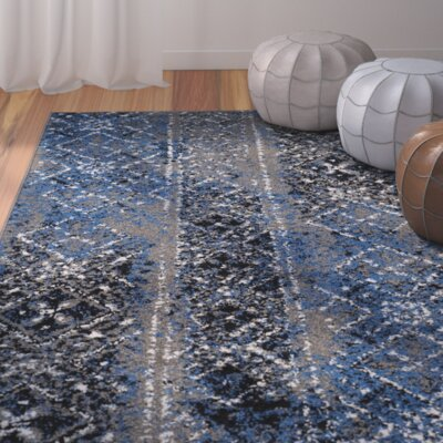 Alisa Silver Area Rug Rug Size: 6 x 9