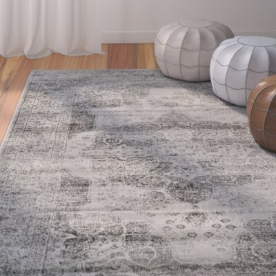 Makenna Gray Area Rug Rug Size: 76 x 106