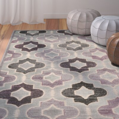 Saint-Michel Gray/Purple Area Rug Rug Size: Rectangle 8 x 112