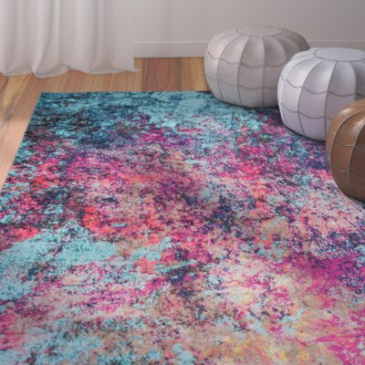 Taina Pink/Blue Area Rug Rug Size: 8 x 10