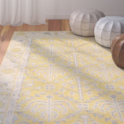 Maisie Yellow Rug Rug Size: Square 6