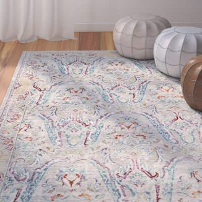 Lulu Rectangle Gray/Light Blue Area Rug Rug Size: Rectangle 6 x 9