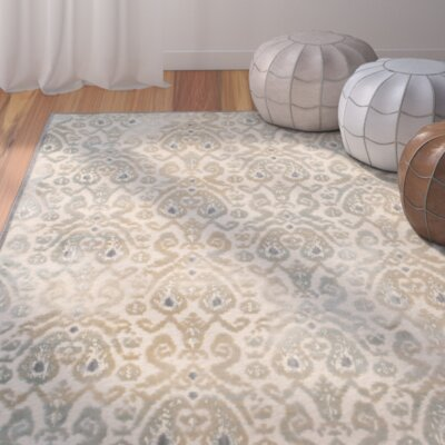 Saint-Michel Gray/Beige Area Rug Rug Size: Runner 25 x 76