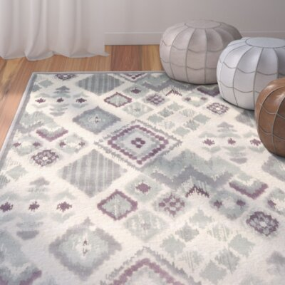 Saint-Michel Grey Rug Rug Size: 76 x 106