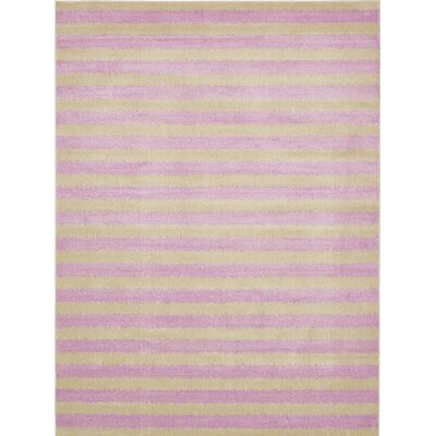 Randeep Purple/Green Area Rug Rug Size: 7' x 10'