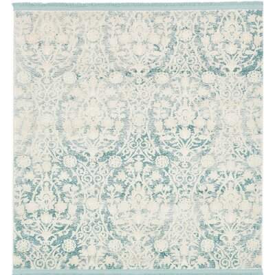 Patenaude Light Blue Area Rug Rug Size: Rectangle 4x4