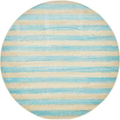 Randeep Blue/Beige Area Rug Rug Size: Round 6'