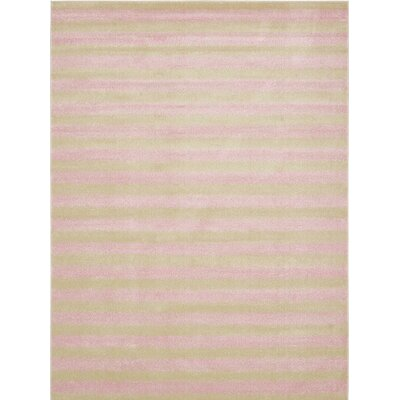 Travis Pink/Green Area Rug Rug Size: Rectangle 5 x 8