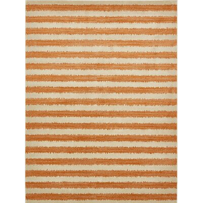 Randeep Orange/Beige Area Rug Rug Size: 5 x 8