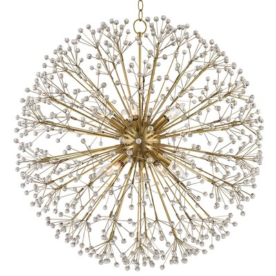 Beaumont 10-Light Globe Pendant Finish: Aged Brass