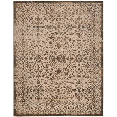 Gilbrae Cream/Bronze Area Rug Rug Size: 4 x 6