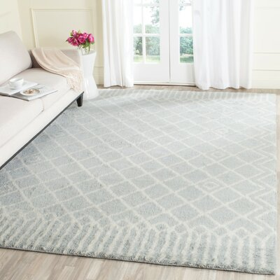 Camacho Hand-Tufted Blue/Ivory Area Rug Rug Size: Rectangle 8 x 10