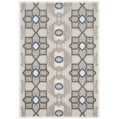 Reynolds Gray/Dark Gray Area Rug Rug Size: 3'3