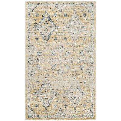 Ameesha Mustard/Ivory Area Rug Rug Size: Square 67