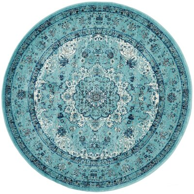 Ameesha Light Blue Area Rug Rug Size: Square 9