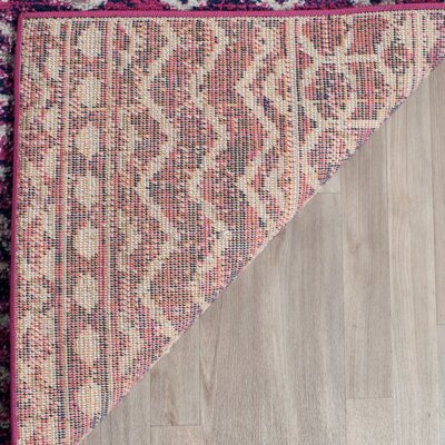 Loretta Fuchsia/Navy Area Rug Rug Size: Rectangle 3 x 5