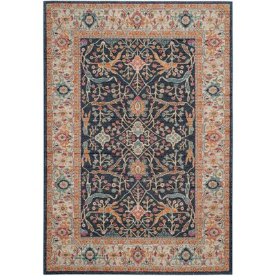 New Caledonia Navy/Cream Area Rug Rug Size: 23 x 6