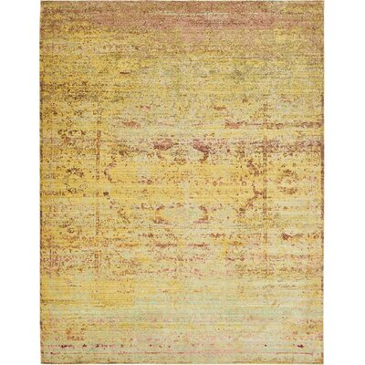 Rune Yellow Area Rug