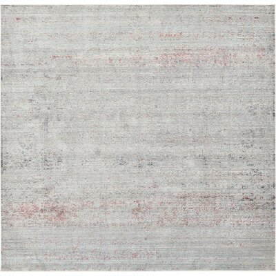 Rune Gray Area Rug Rug Size: Square 8'