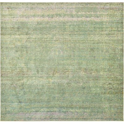 Rune Green Area Rug Rug Size: Square 8'