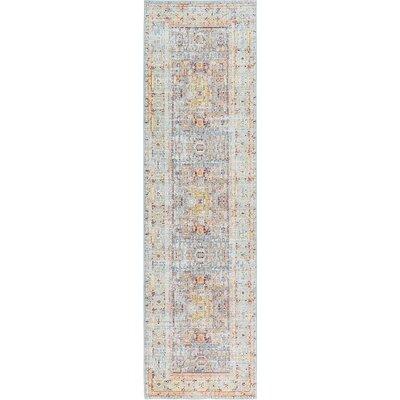 Rune Light Blue Area Rug Rug Size: Runner 27 x 910