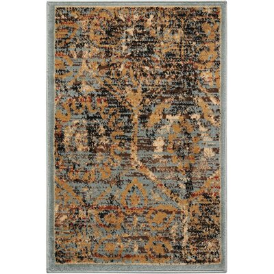 Anders Blue/Orange Area Rug Rug Size: 2 x 3