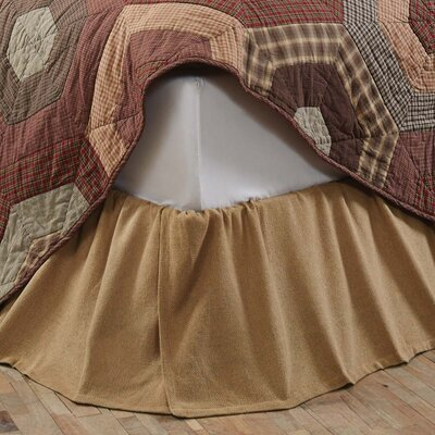 Griswold Burlap Ruffled Bed Skirt Size: Queen