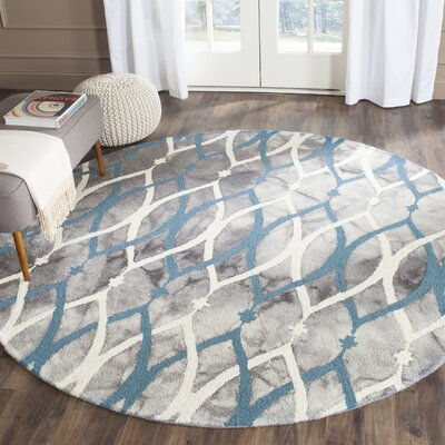 Clements Hand-Tufted Area Rug Rug Size: Round 5