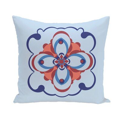 Souihla Too Geometric Print Outdoor Pillow Color: Deep Sea, Size: 16