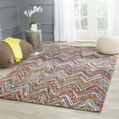 Sergio Hand-Tufted Multi/Blue Area Rug Rug Size: Rectangle 4 x 6