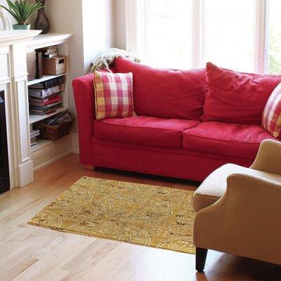 Lankershim Yellow Area Rug Rug Size: 4 x 6