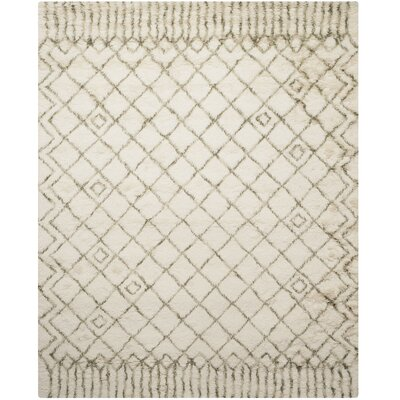 Samaniego Hand-Tufted Beige/Gray Area Rug Rug Size: Runner 23 x 12
