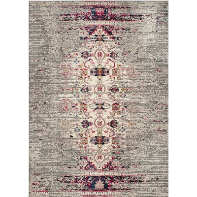 Shakti Gray/Beige Area Rug Rug Size: Square 9