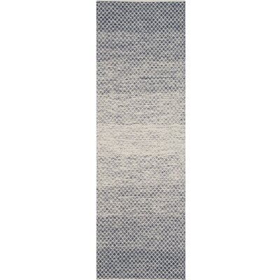 Margie Hand-Woven Navy/Ivory Area Rug Rug Size: Rectangle 6 x 6